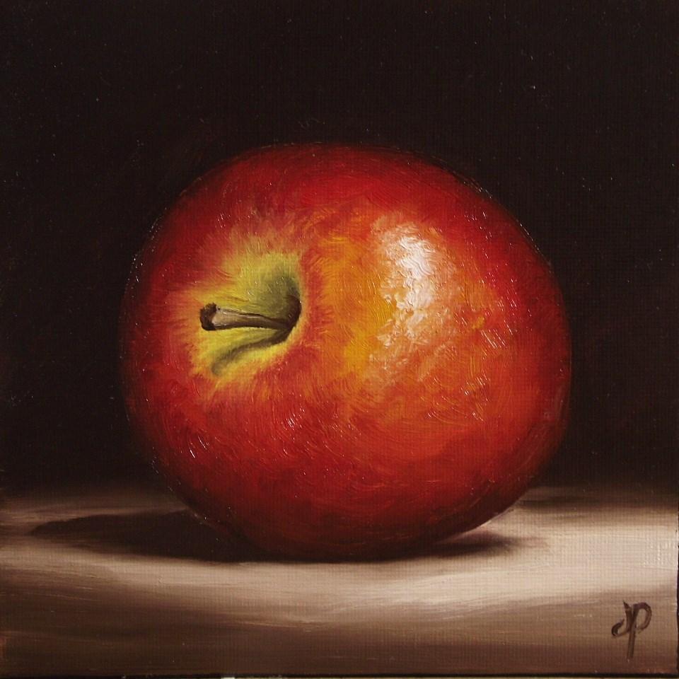 """Braeburn Apple #3"" original fine art by Jane Palmer"