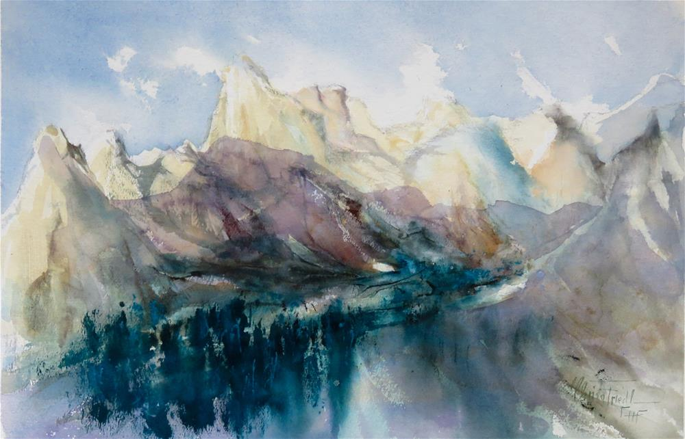 """am Rodan, the Tyrol, Austria"" original fine art by Christa Friedl"