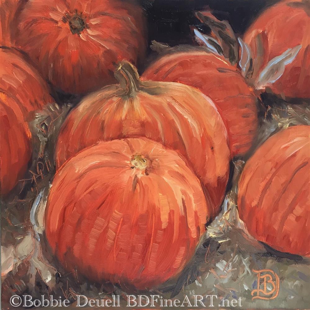 """#48 Pumpkin Time"" original fine art by Bobbie Deuell"