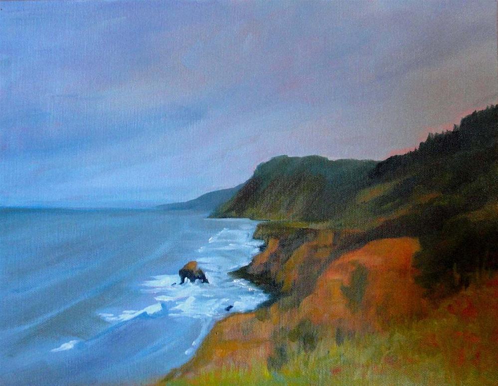 """The Lost Coast At Needle Rock"" original fine art by Cietha Wilson"