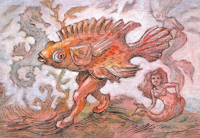 """Oceanic Stroll"" original fine art by Theresa Taylor Bayer"