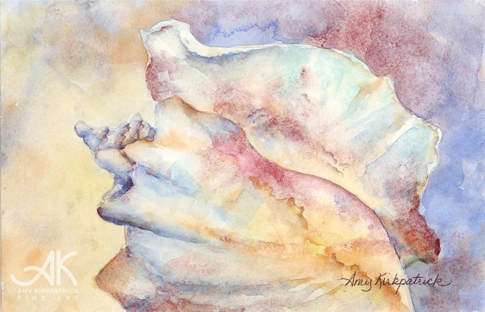 """CONCH #0186"" original fine art by Amy Kirkpatrick"