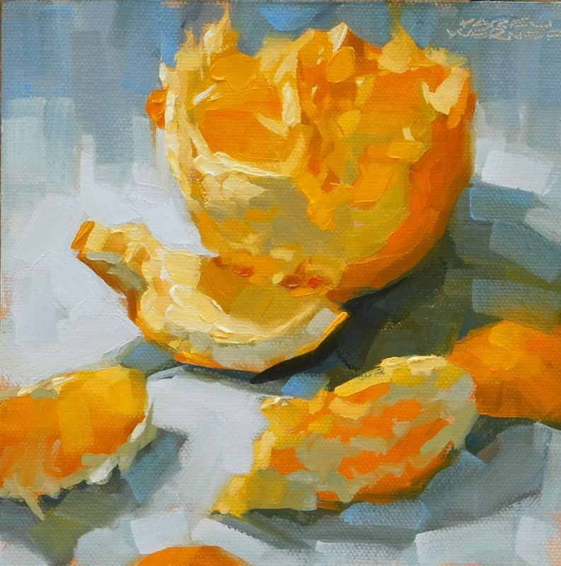 """Orange Glow"" original fine art by Karen Werner"