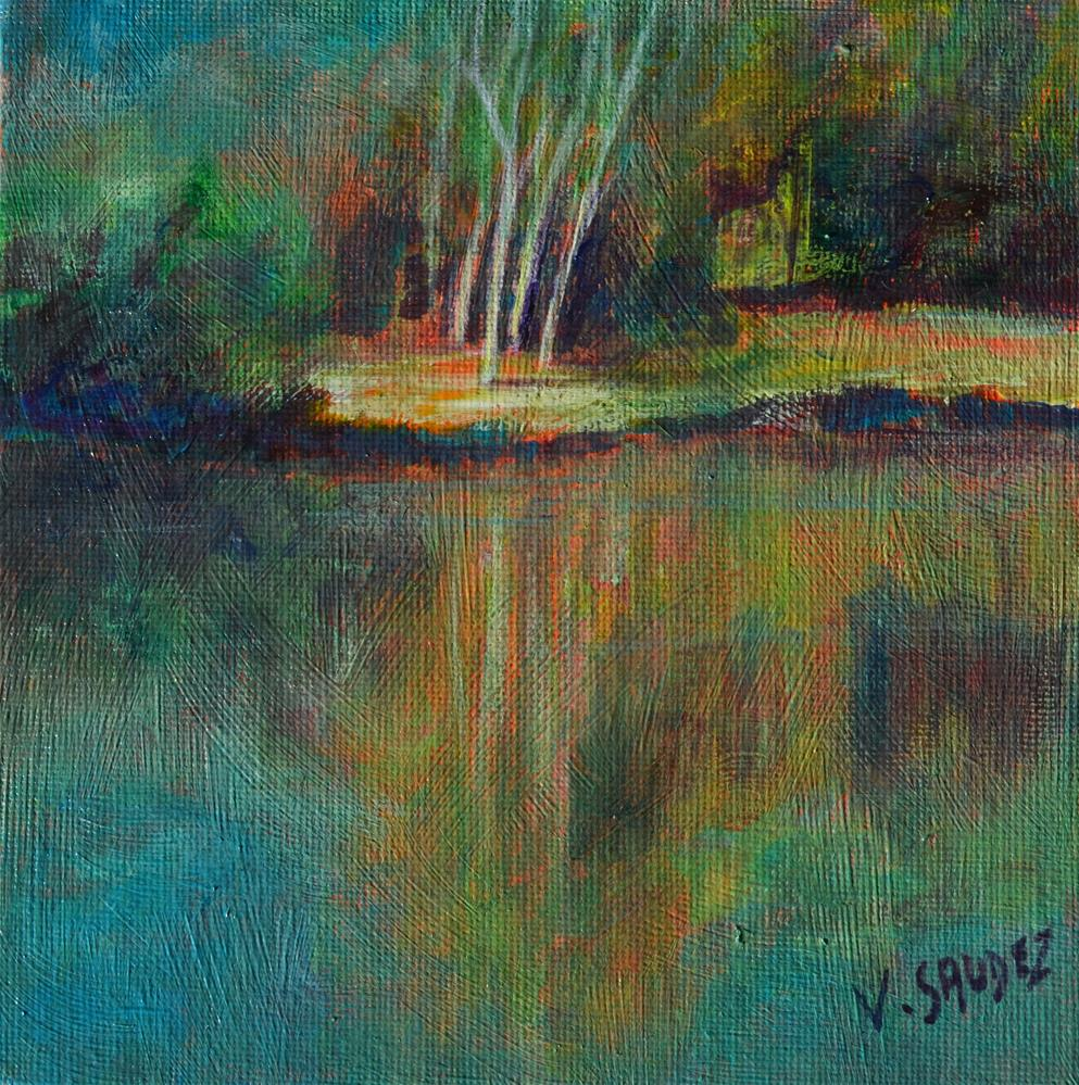 """Summer in Ardennes"" original fine art by Véronique Saudez"