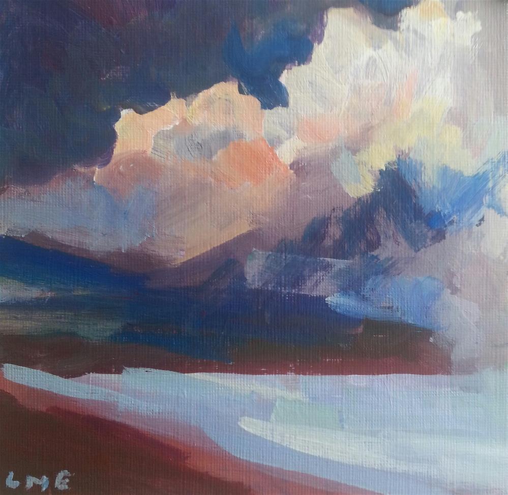 """Storm at Sea"" original fine art by Liz Maynes"