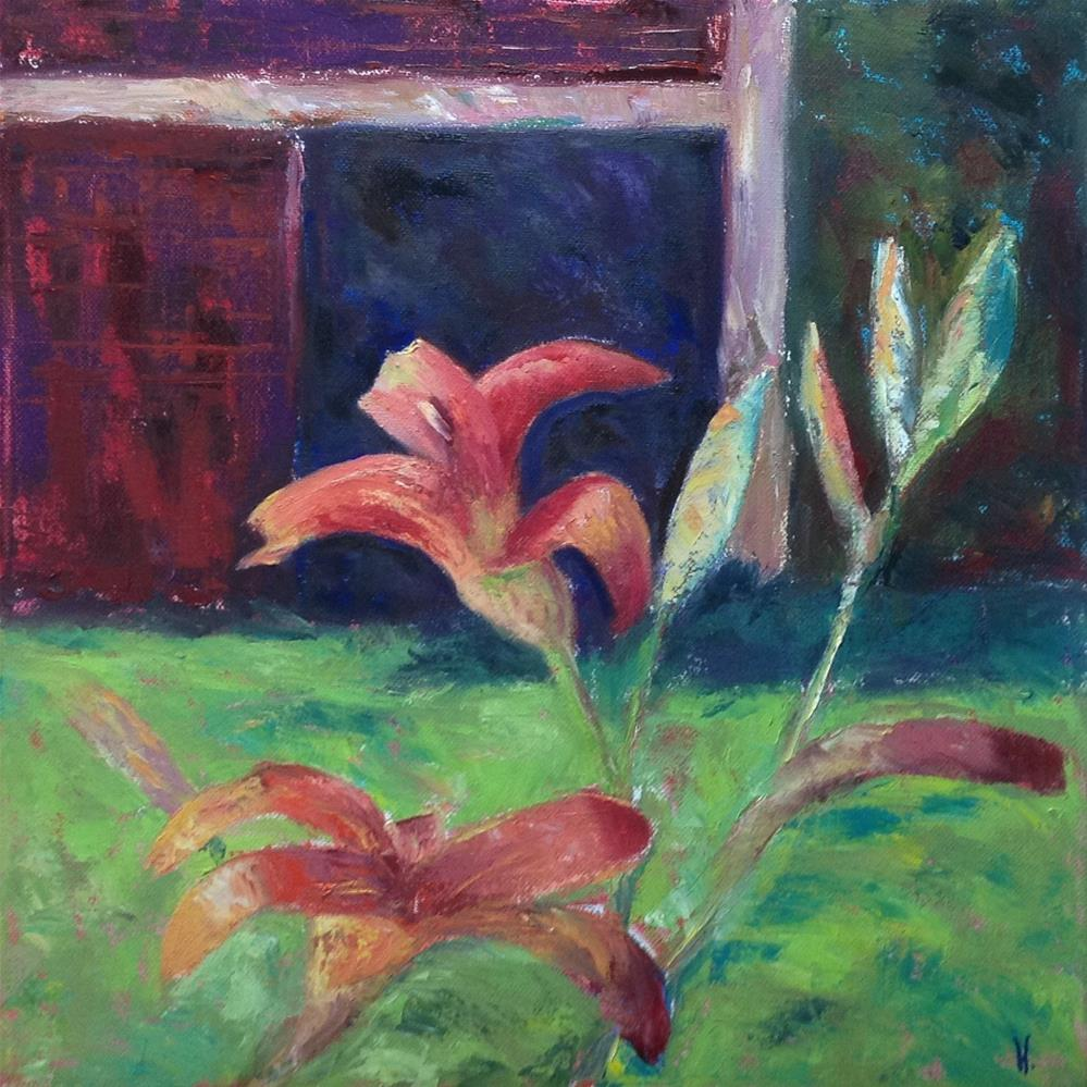 """Daylilly Study"" original fine art by Helen Viebrock Hamel"