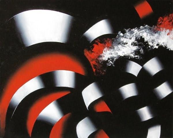 """Mark Webster - Abstraction 24 - Abstract Landscape Oil Painting"" original fine art by Mark Webster"
