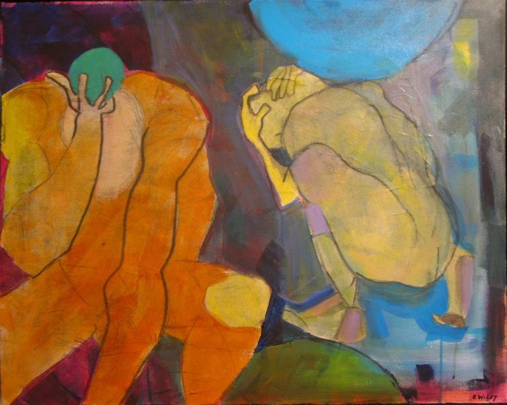 """The Titans"" original fine art by Carol Wiley"