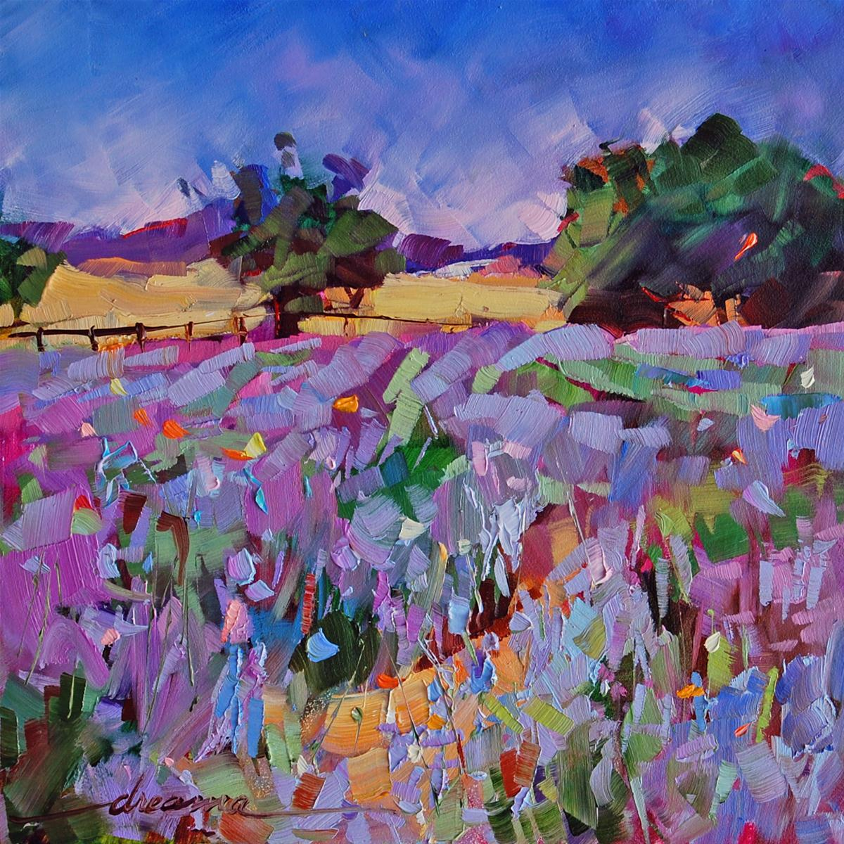 """""""The Scent of Lavender"""" original fine art by Dreama Tolle Perry"""