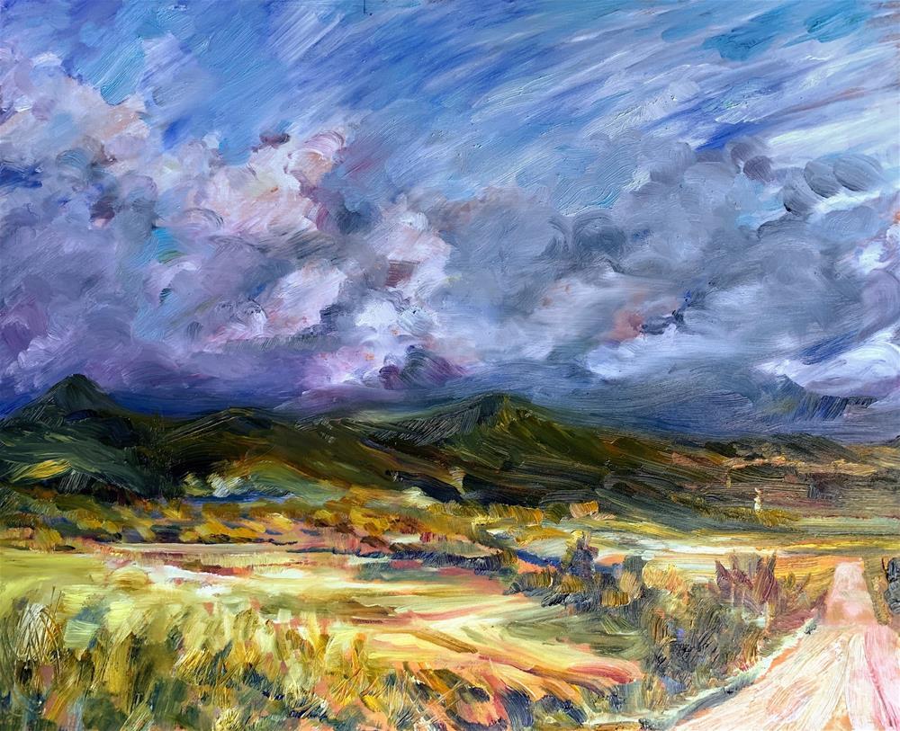 """Sangre de Cristo Mtns., Colorado"" original fine art by Jean Krueger"