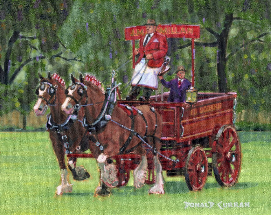 """Clydesdale Team"" original fine art by Donald Curran"