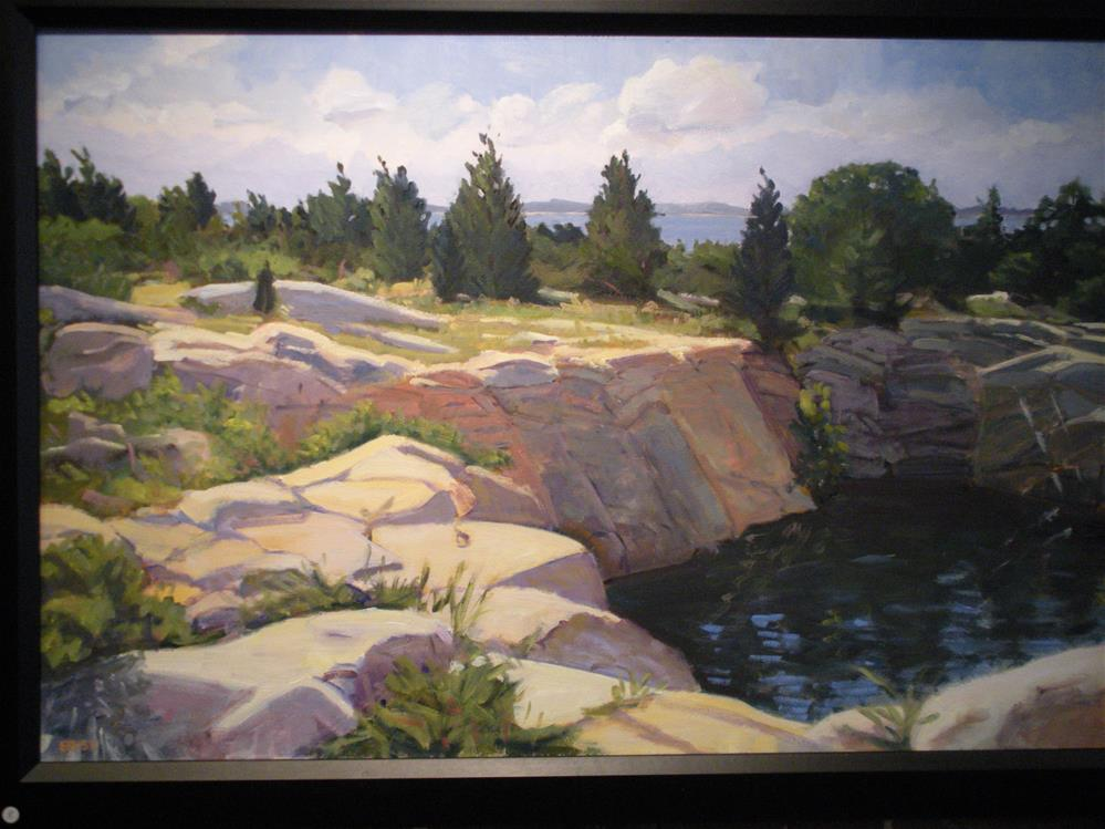"""""""Halibut Point on an August Day"""" original fine art by Elizabeth Bish"""