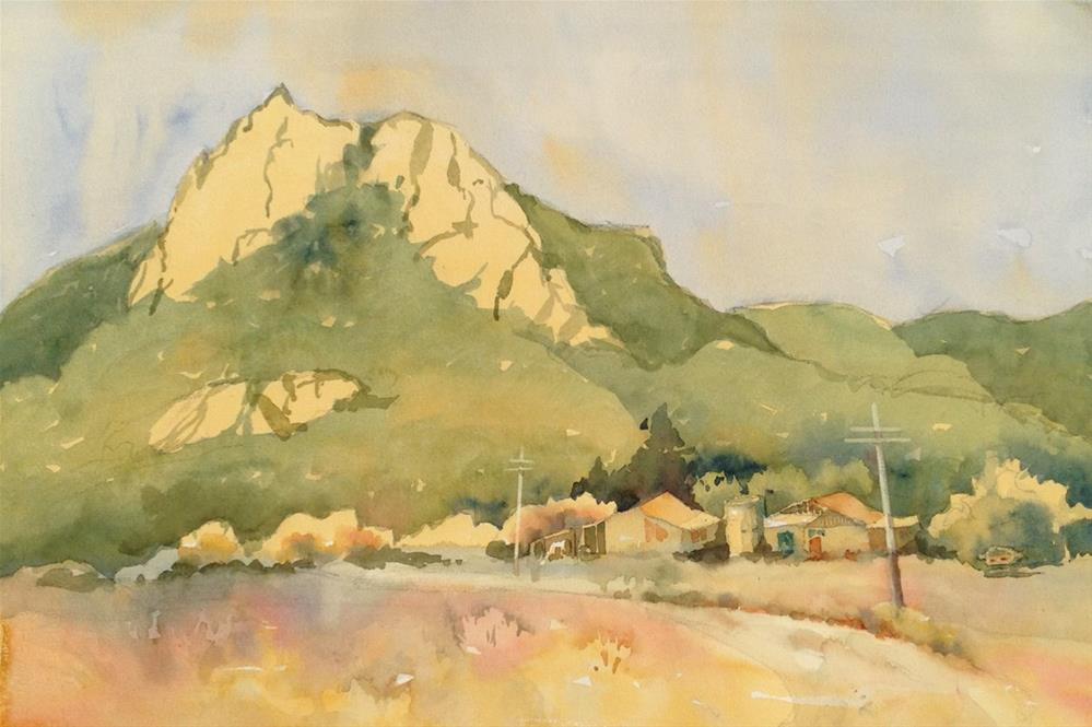 """Hollister Peak"" original fine art by Julie Crouch"