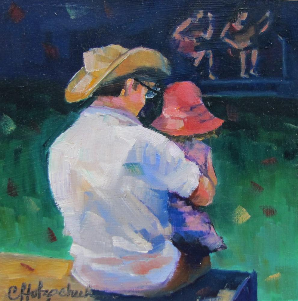 """""""Keeping Time 6x6 oil $100"""" original fine art by Christine Holzschuh"""