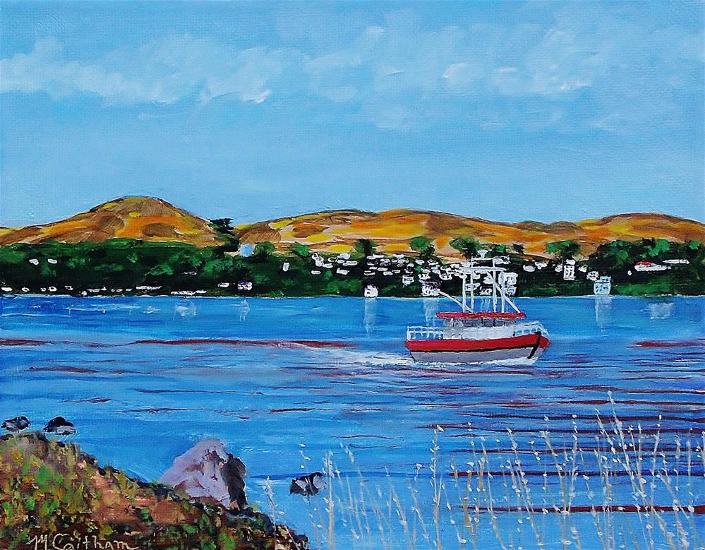 """Bodega Bay from Campbell Cove"" original fine art by Mike Caitham"