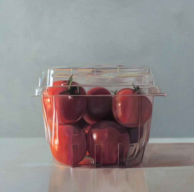 """Clear Basket of Tomatoes"" original fine art by Lauren Pretorius"