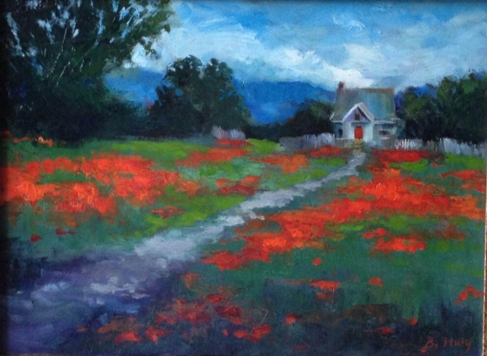 """""""Fields of Wonder"""" original fine art by Barbara Fluty"""