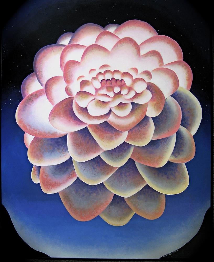 """Carnal Dahlia"" original fine art by Karen Roncari"