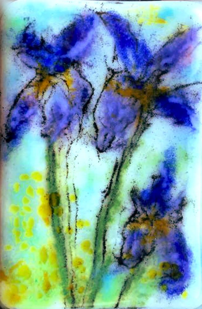 """Iris Trio"" original fine art by Kristen Dukat"