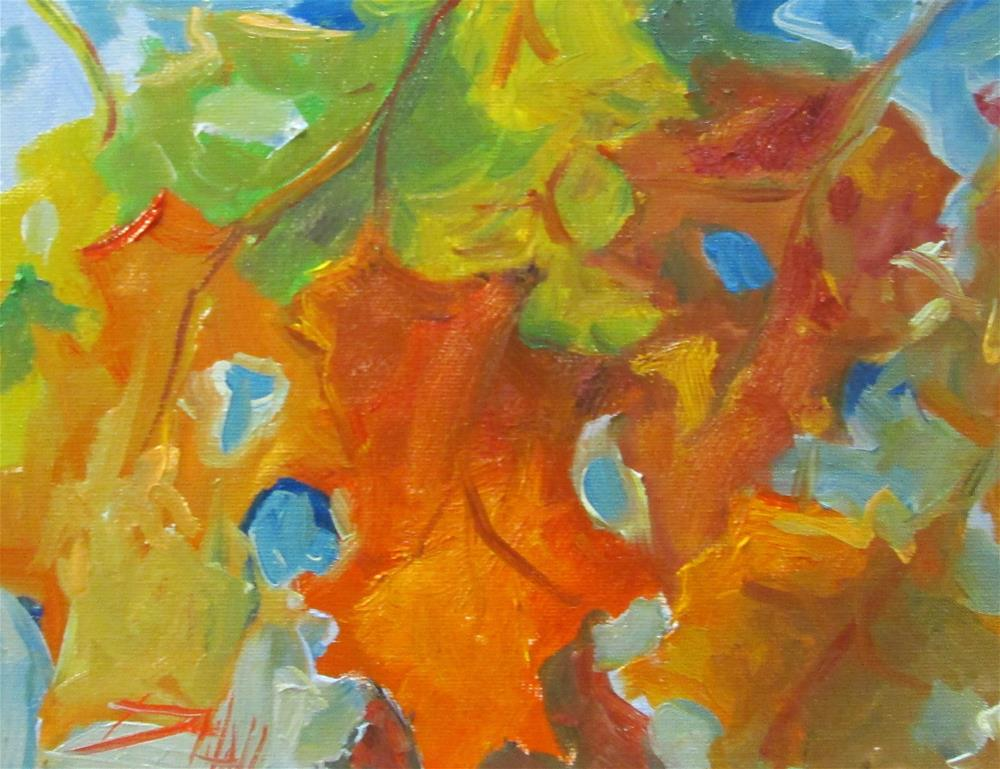"""Fall Leaves No. 3"" original fine art by Delilah Smith"