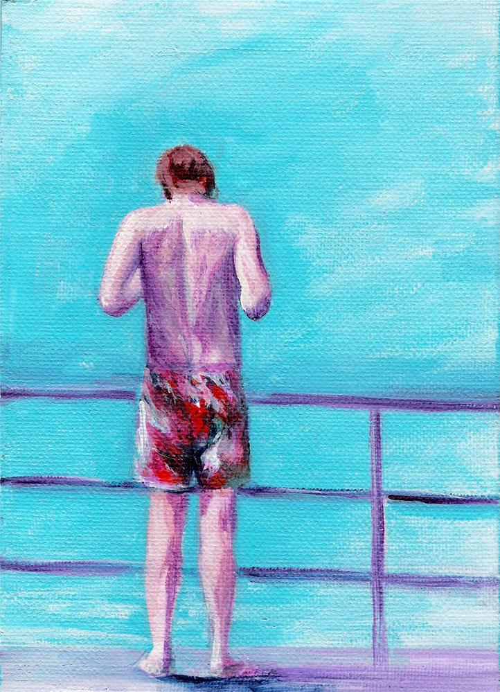 """3203 - Summer Boy III - Summer Boy Series"" original fine art by Sea Dean"
