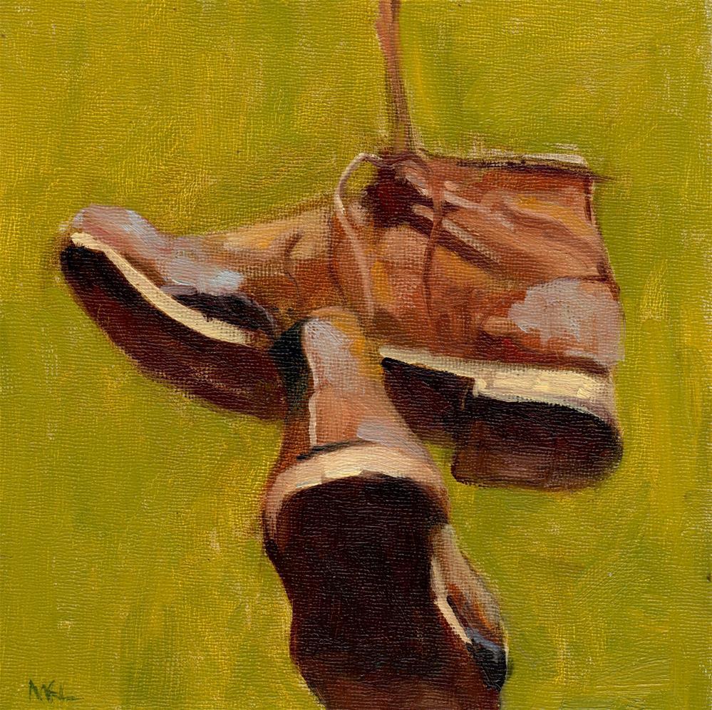 """Work Shoes"" original fine art by Marlene Lee"