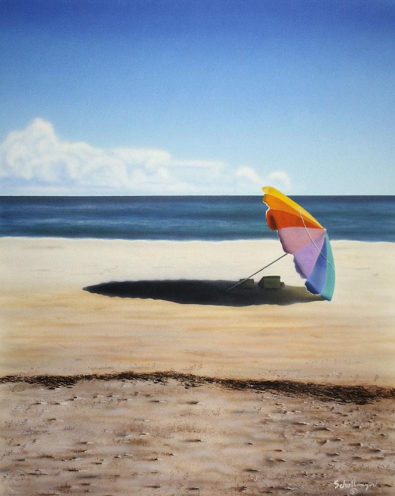 """""""Life's a Beach"""" original fine art by Fred Schollmeyer"""