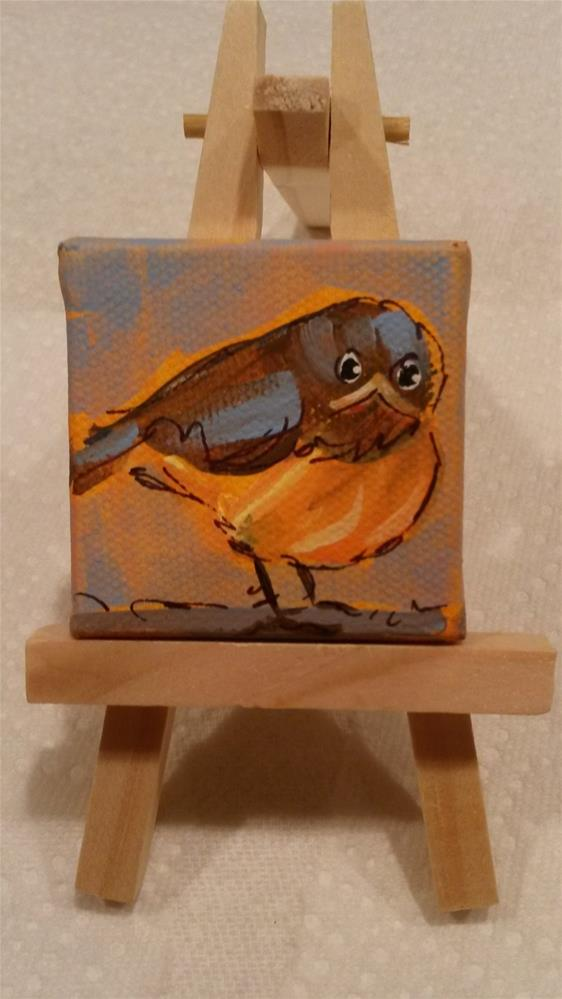 """Itty Bitty Robin"" original fine art by Terri Einer"