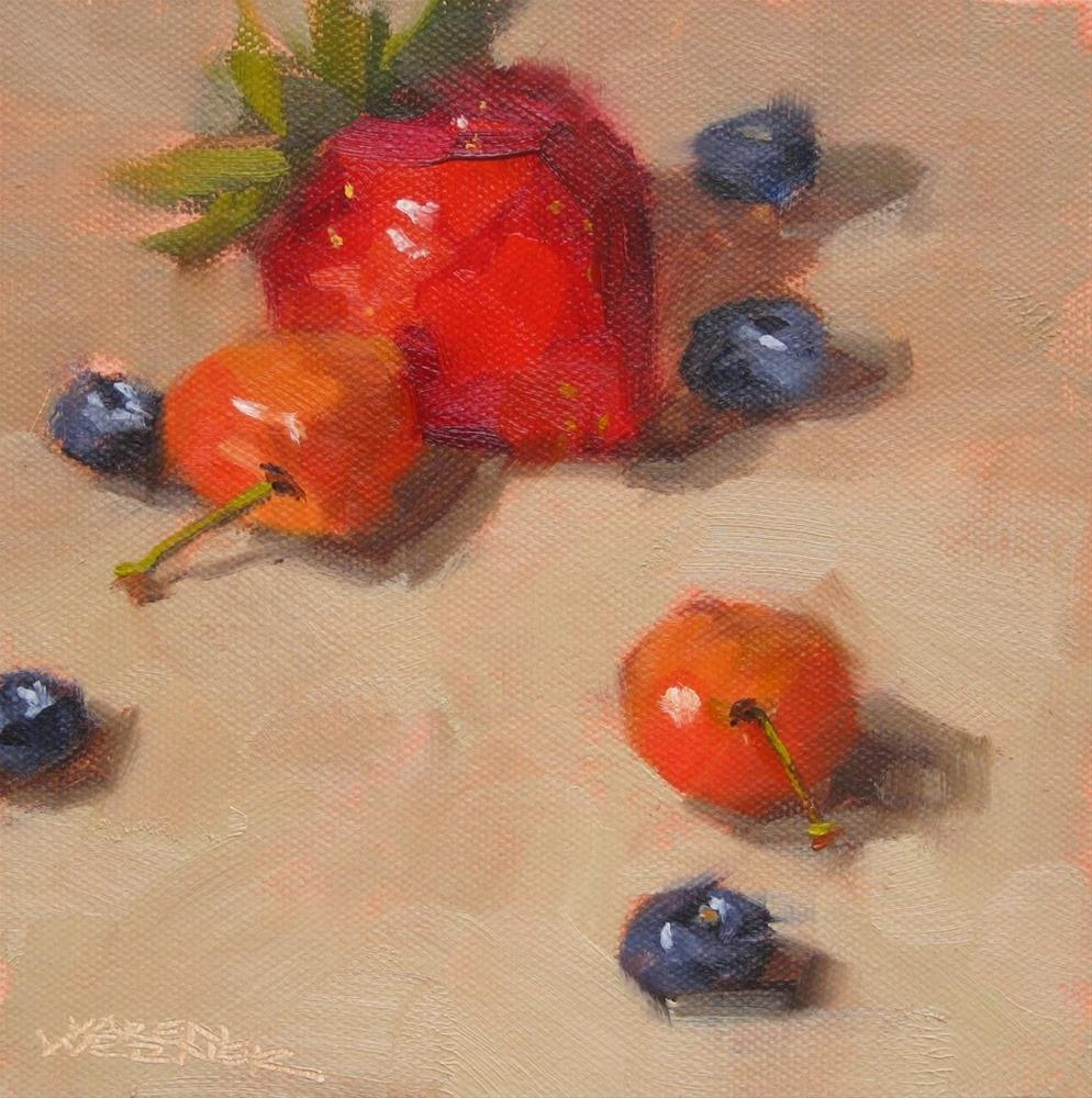 """Quick Fruit Demo"" original fine art by Karen Werner"