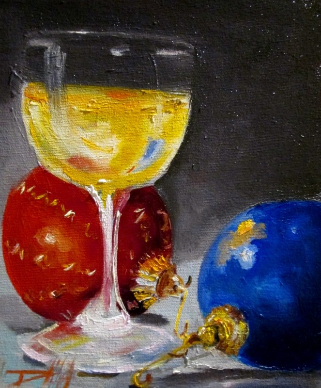 """""""Christmas Party"""" original fine art by Delilah Smith"""