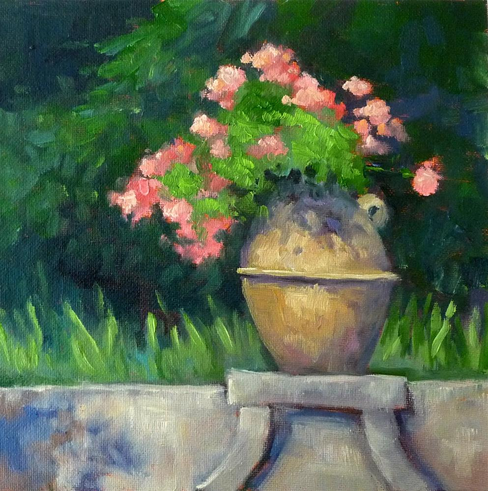 """Flowers in Ravello"" original fine art by Lisa Kyle"