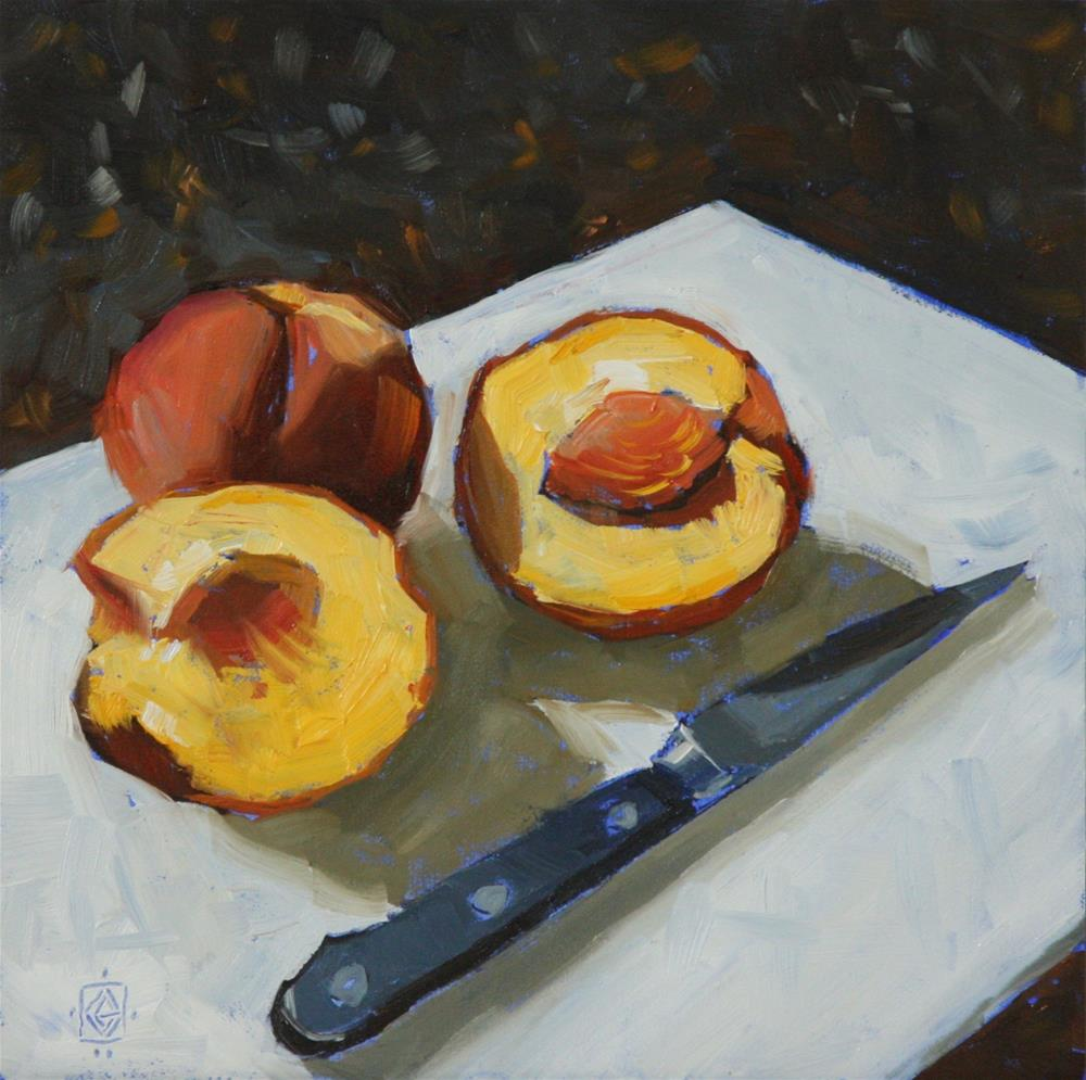 """Just Peachy"" original fine art by Carol Granger"