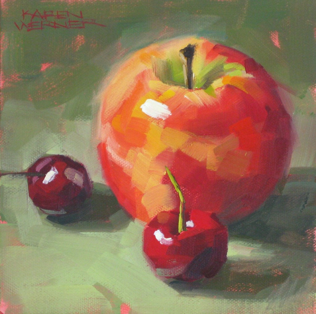"""Familiar Fruit"" original fine art by Karen Werner"