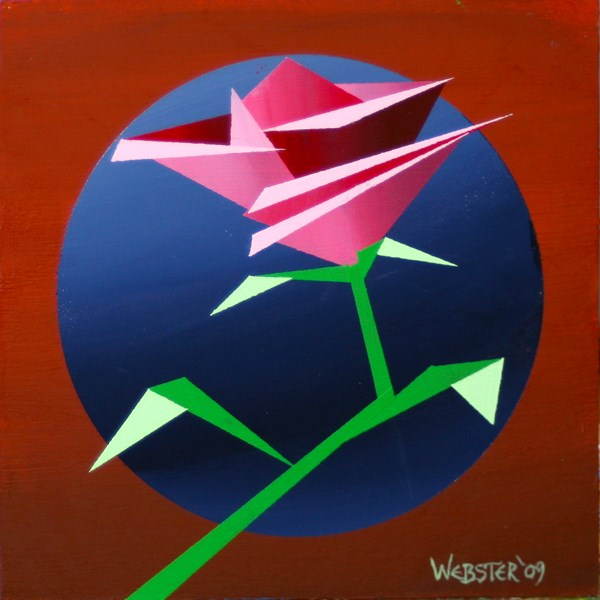 """""""Mark Webster - Abstract Geometric Rose #2 Acrylic Painting"""" original fine art by Mark Webster"""