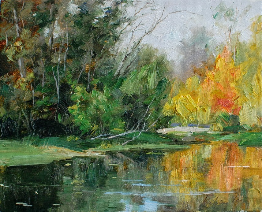 """Colors of Fall"" original fine art by Kelvin Lei"