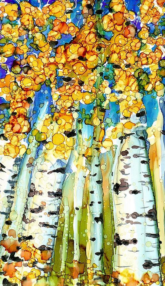 """""""Birch Series 3"""" original fine art by Kristen Dukat"""