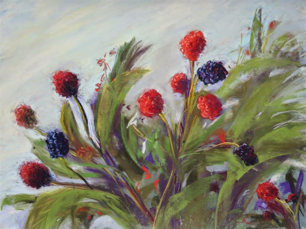 """Fruits of Summer"" original fine art by Sharon Lewis"