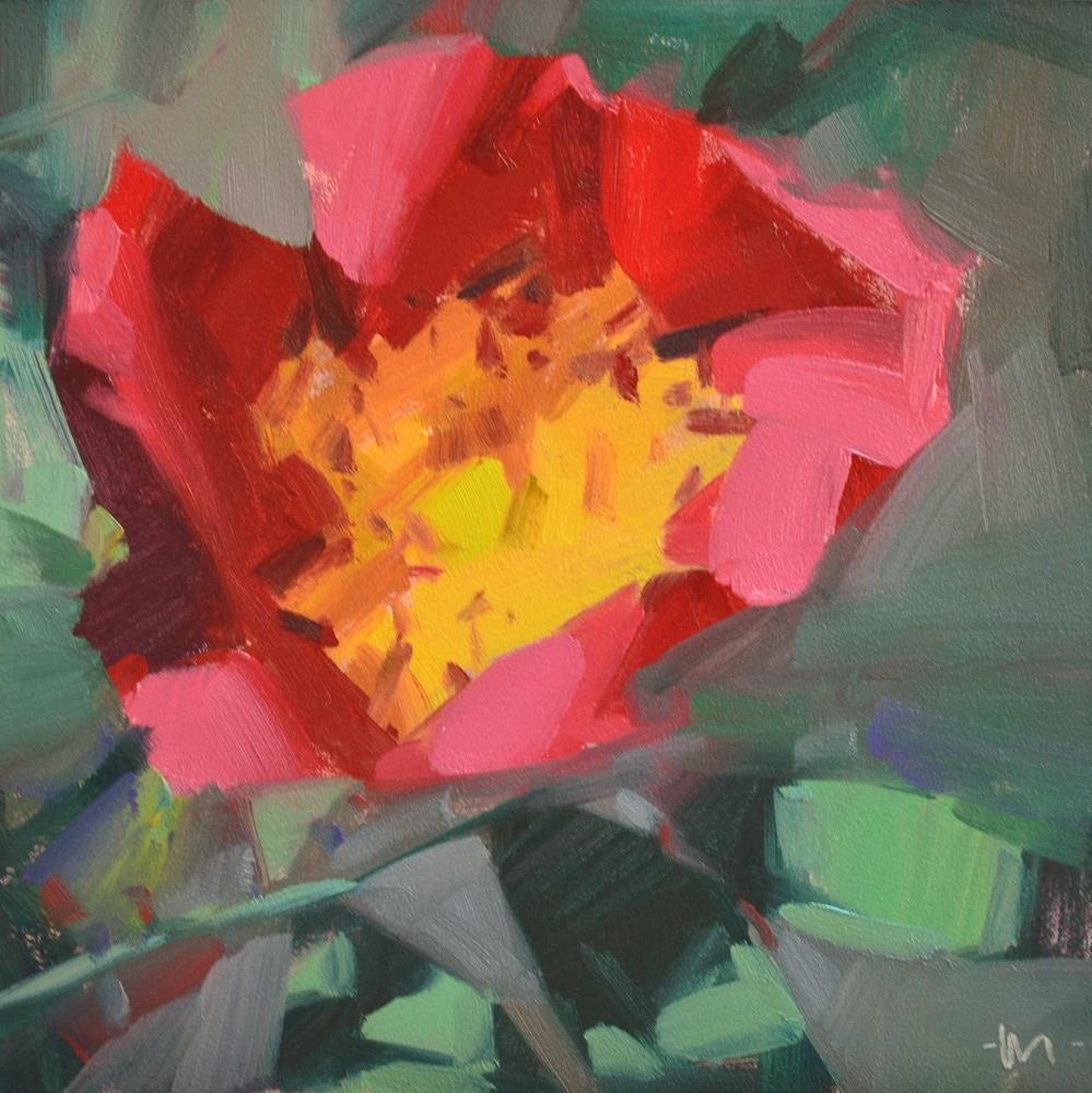 """Wild Rose"" original fine art by Carol Marine"