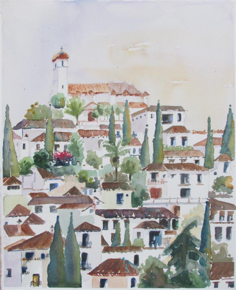 """Albaicin"" original fine art by Yolanda Moreno"