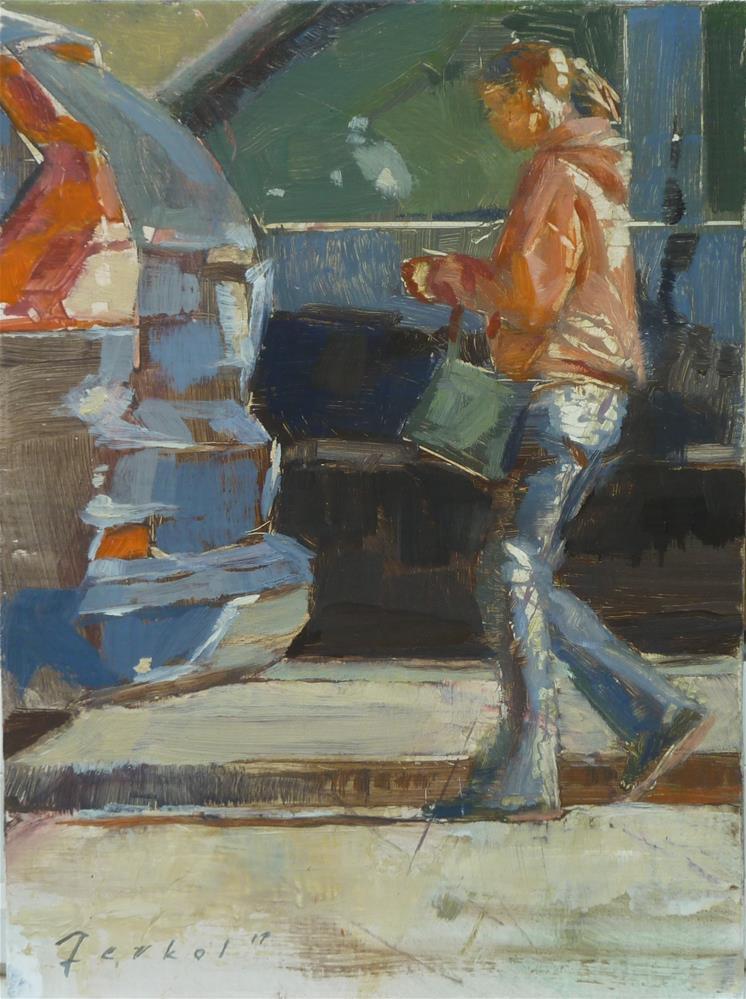 """""""ON MY WAY"""" original fine art by Ron Ferkol"""