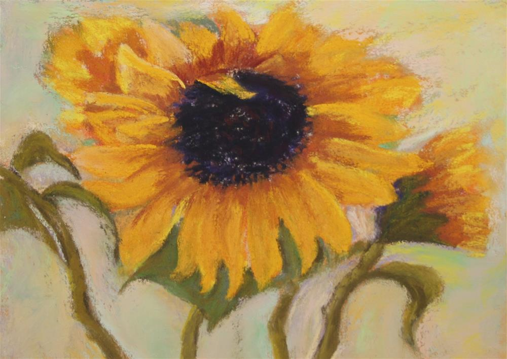 """Sunflower a la van Gogh"" original fine art by Sharon Lewis"