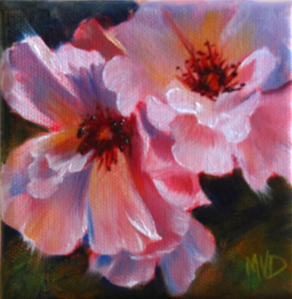 """Wild Roses"" original fine art by Mary Van Deman"