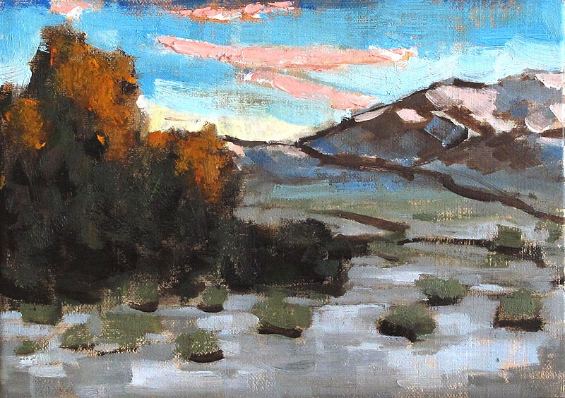 """Santa Barbara Sunset"" original fine art by Kevin Inman"