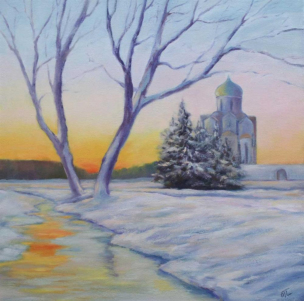 """Late winter day"" original fine art by Olga Touboltseva-Lefort"