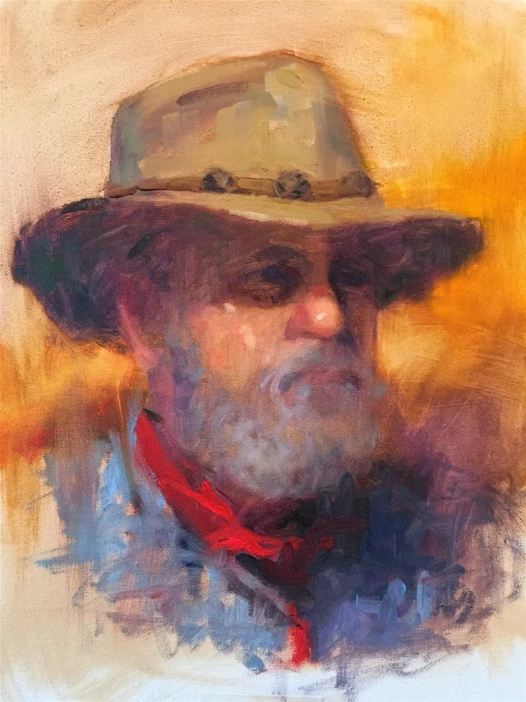 """The Rancher, 12x16 And A Lesson From Carolyn Anderson"" original fine art by Ann Feldman"