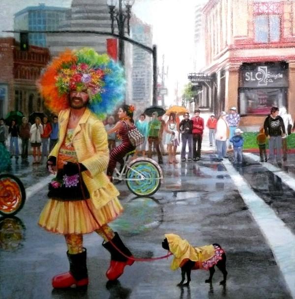 """On Parade"" original fine art by Susan N Jarvis"