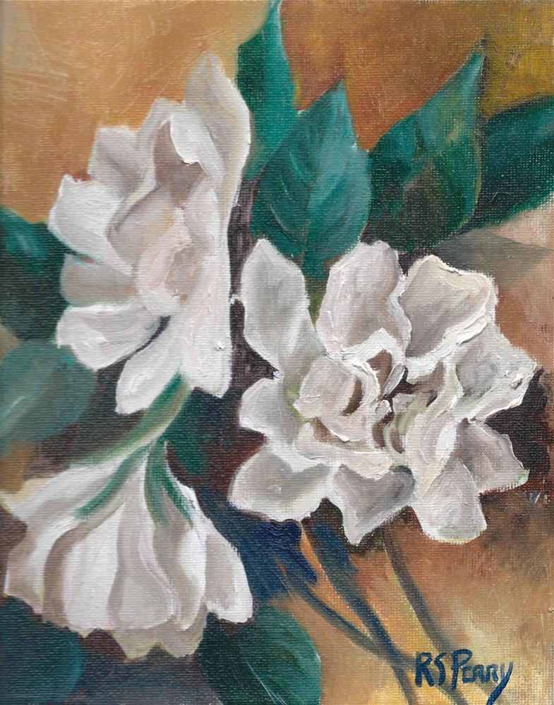 """Gardenia Gala"" original fine art by R. S. Perry"