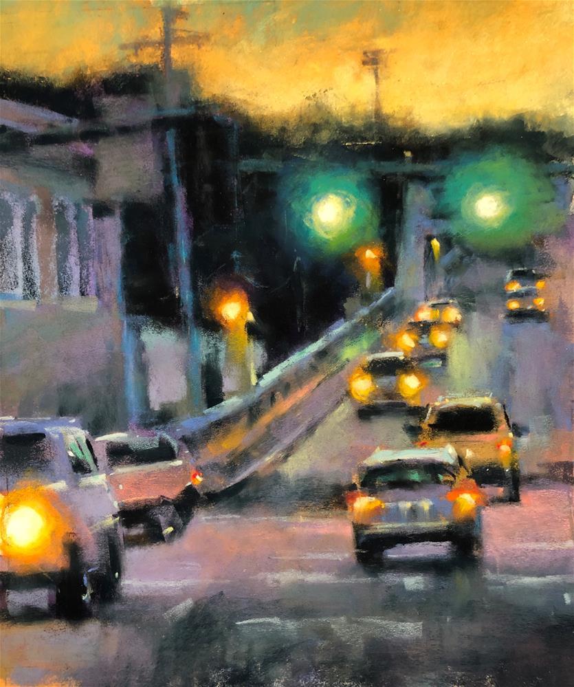 """""""Oregon City Bridge"""" original fine art by Marla Baggetta"""