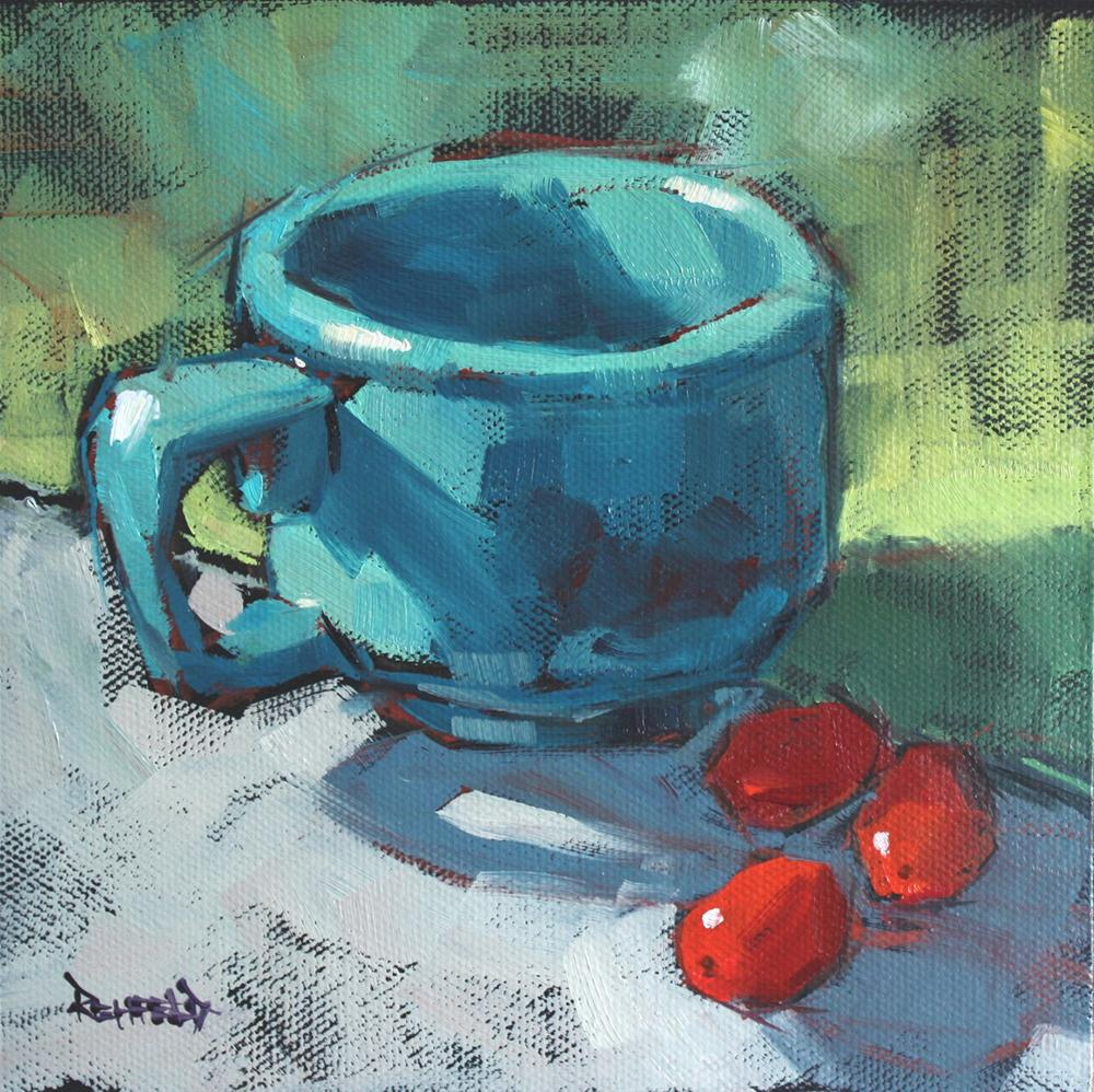 """Little Red Tomatoes"" original fine art by Cathleen Rehfeld"
