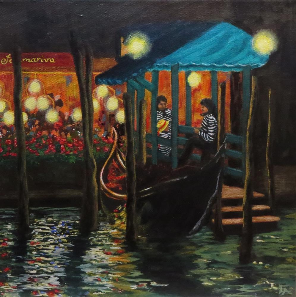 """Valet Parking, Venice"" original fine art by Elizabeth Elgin"